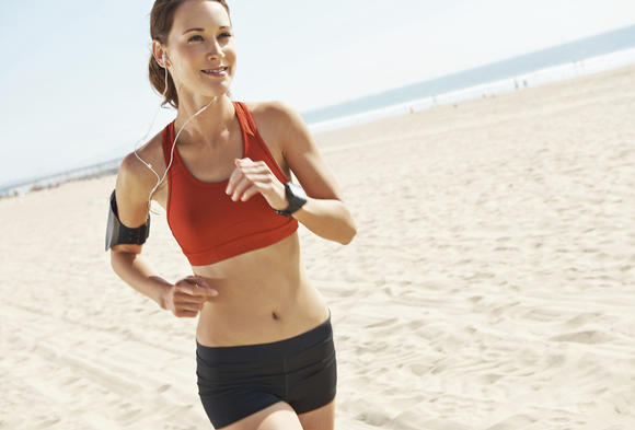"The caption for this stock image was ""She loves working out.""   I have never looked this happy to be running. Ever."