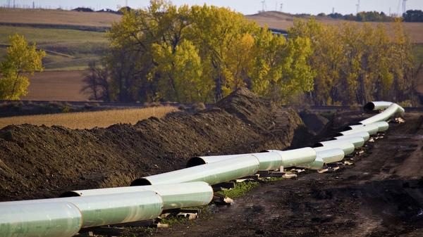 The Keystone pipeline is under construction in North Dakota in a 2012 photo.