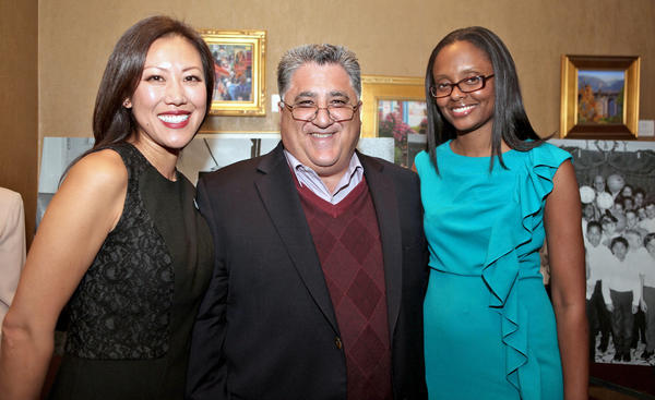 FILE PHOTO: Five Acres chief executive officer Chanel Boutakidis, LCF resident Anthony Portantino, and Pasadena City council member Jacque Robinson attend the Five Acres' award ceremony. Anthony Portantino, a Democrat, announced in June 2013 that he is getting back into politics because people in his district want him to keep pushing for transparency in government and funding for education. Pasadena City Councilwoman Jacque Robinson, also a Democrat, announced her bid for the seat.