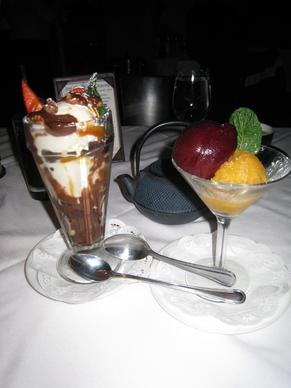 A variety of desserts is displayed at Grasings restaurant in Carmel, California.