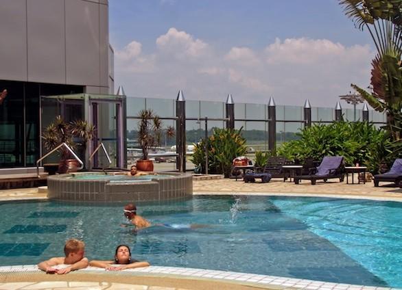 Pool at Singapore's Changi Airport