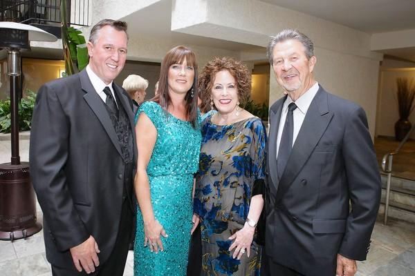 Dan Demsher, Gayle Demsher, Sue Hook and Dave Hook at 30th annual Cystic Fibrosis gala.