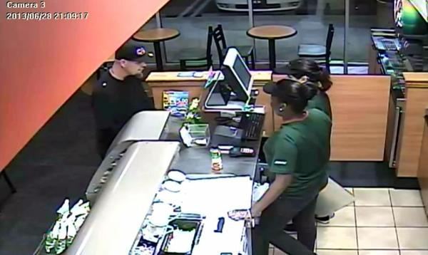 Hollywood Police are looking for the man who robbed this Subway restaurant