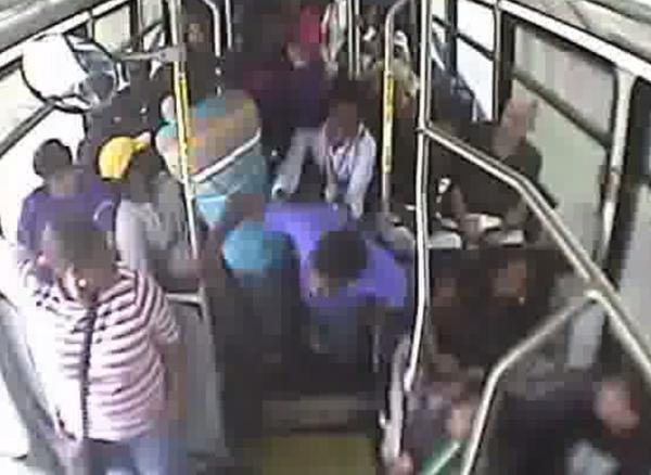 Detectives are searching for the guy who grabbed an iPod off a fellow bus rider in Oakland Park.