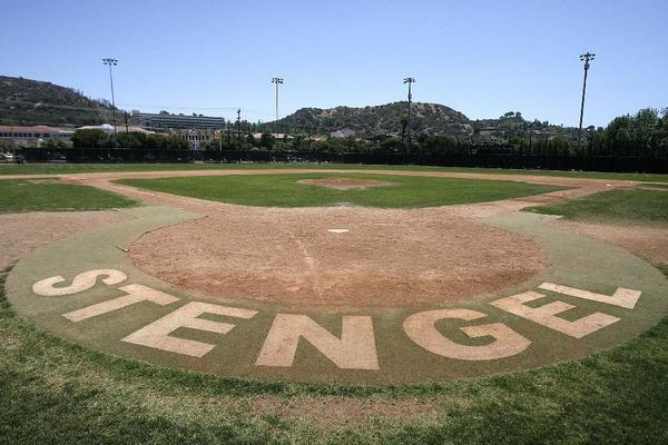 Plans to shut down Stengel Field for renovations have been postponed, along with a plan to shift management of the field from the city of Glendale to the Glendale Unified School District. (Tim Berger/Staff Photographer)