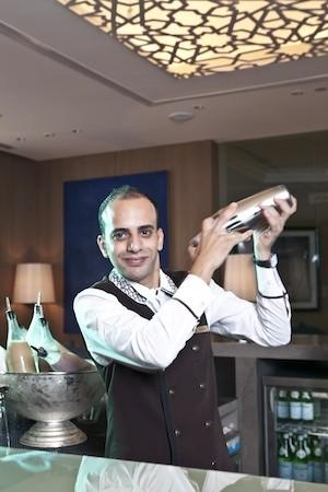 Mohammad Daoud shakes it up, using camel milk, in creations at the Ritz-Carlton Abu Dhabi, Grand Canal.
