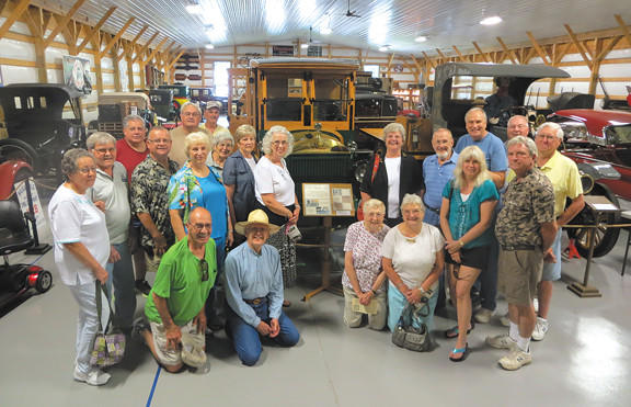 Members of the Mack Trucks Golden Bulldogs visited the Washington County Rural Heritage Museum on June 26.