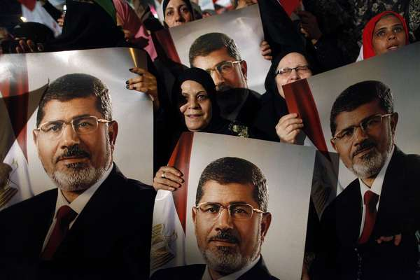 Supporters of ousted Egyptian President Mohamed Morsi rally in Cairo.