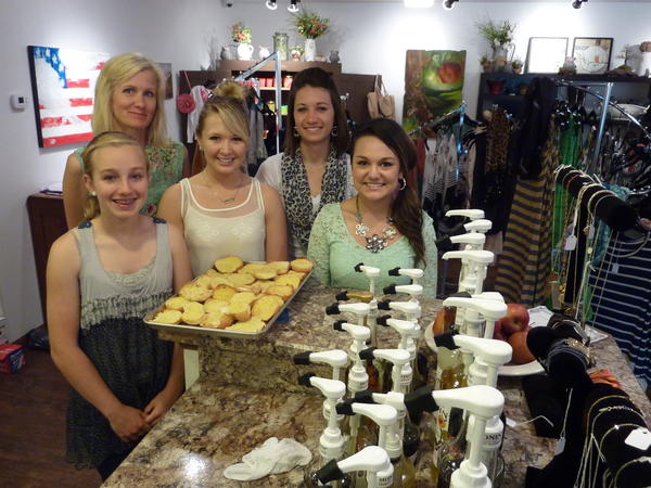 Four Two Six in Ipswich offers coffee, meals, clothing and other items. Pictured in front from left are Haylee Kilber, Bethany Wiedrich and Christine Heier. In back is Emily Kadlec, co-owner, and Annie Hockhalter.