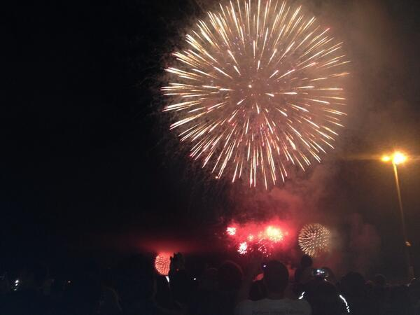 San Diego's fireworks display over the West Coast home of the U.S. Navy went off flawlessly, unlike last year's snafu.