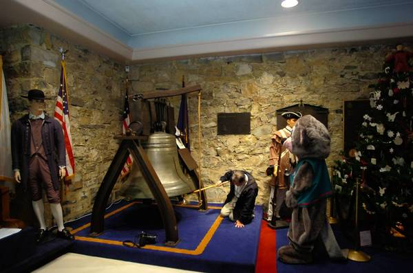 A replica of the Liberty Bell is rung a few years ago at the Liberty Bell Museum in Allentown, where the original Liberty Bell was hidden in 1777 to keep it away from the Redcoats.
