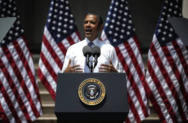 In a speech at Georgetown University in Washington, D.C., on June 25, President Obama unveils his plan to reduce carbon pollution.
