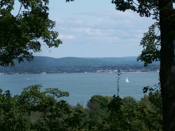 A view of Boyne City from the Butler Trust, a piece of property Charlevoix County may soon add to its parks system.