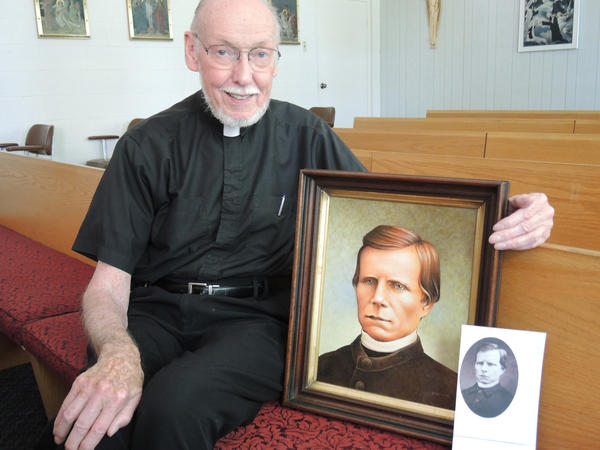 Father Francis Partridge, a priest at the Augustine Center Sacramentine Monastery in Conway. Jane Cardinal of Harbor Springs painted a portrait of Father Seraphim Philip Zorn for the celebration of his reburial at Holy Childhood Church in Harbor Springs.