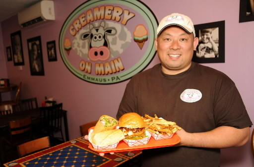 Creamery on Main Owner Bill Kao shows off some of his menu items.