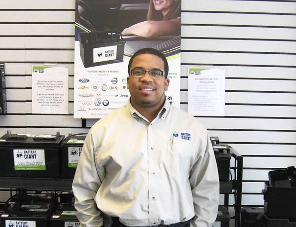 Brian Nolen II at the Battery Giant store in Orland Park
