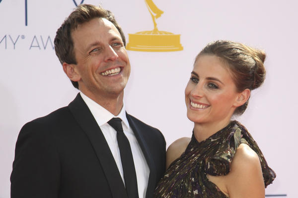 Seth Meyers and Alexi Ashe at the 64th Annual Primetime Emmy Awards in September at L.A.
