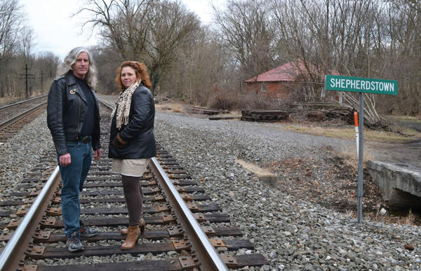 Bill Veldran, left, and Natoma Reed-Vargason are the driving forces behind the first-ever Cut to the Chase Film Festival in Shepherdstown, W.Va.