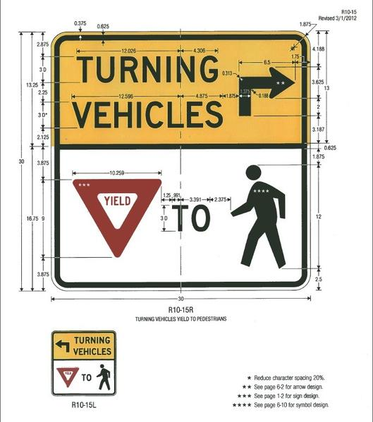 The plans for new signs at the intersection of Park and Raymond roads are seen.