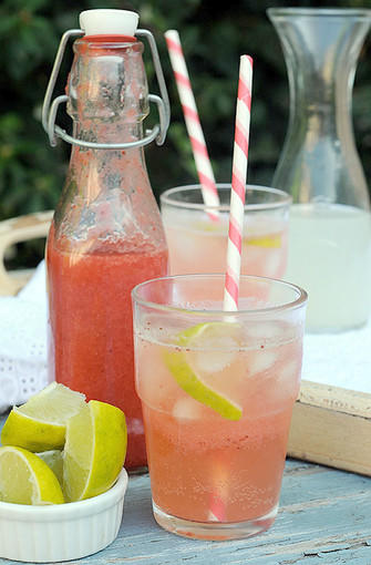 Strawberry Limeade Soda.