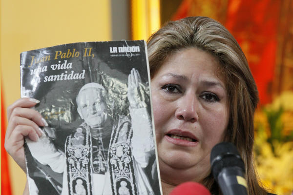 Floribeth Mora's miracle helps Pope John Paull II reach sainthood