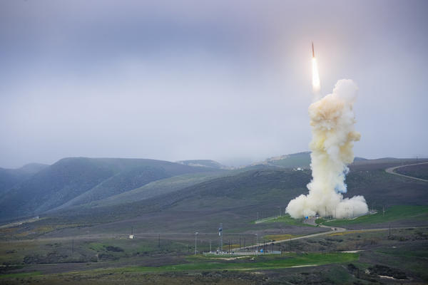 The Missile Defense Agency conducts a flight test of a three-stage ground-based interceptor from Vandenberg Air Force Base in January.
