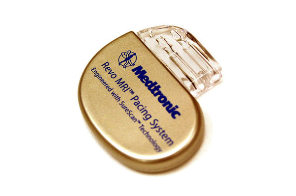 MRI-compatible pacemaker by Medtronic in this handout photo. Ordinarily patients with pacemakers can't have MRIs because the magnetic fields from these tests interrupt pacemaker function. MetroSouth Medical Center in Blue Island now implants these pacemakers.
