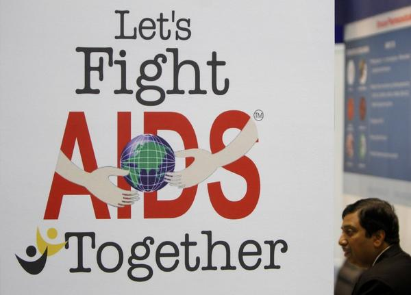 A poster at the International AIDS Society conference