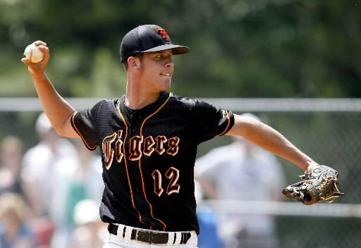 Patrick Corbett, shown here pitching for Tabb, has helped Coastal Carolina University to baseball excellence.