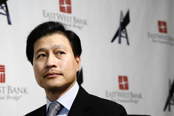 Dominic Ng is chairman and chief executive of East West Bancorp in Pasadena, the largest of several Southern California banks that reported improved earnings Wednesday