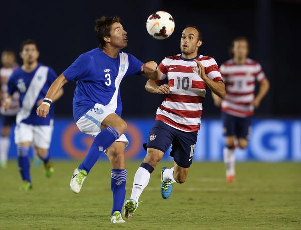 Landon Donovan of the U.S., shown pursuing the ball against Guatemala's Enoc Vasquez, sees the Gold Cup as an opportunity to help himself to a World Cup spot.