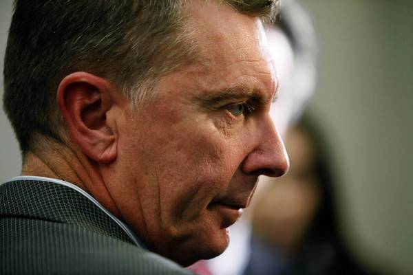 LAUSD Supt. John Deasy, shown at a news conference last December, privately threatened to resign if school board member Richard Vladovic became president. Regardless, Vladovic was elected.