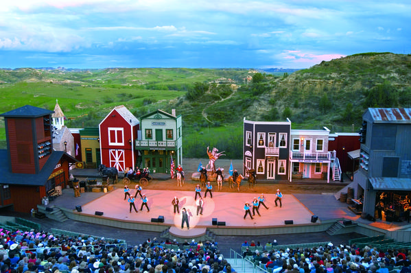 The Medora Musical, performed nightly, is a popular attraction in the western North Dakota town that is one of the state's top tourism destinations.