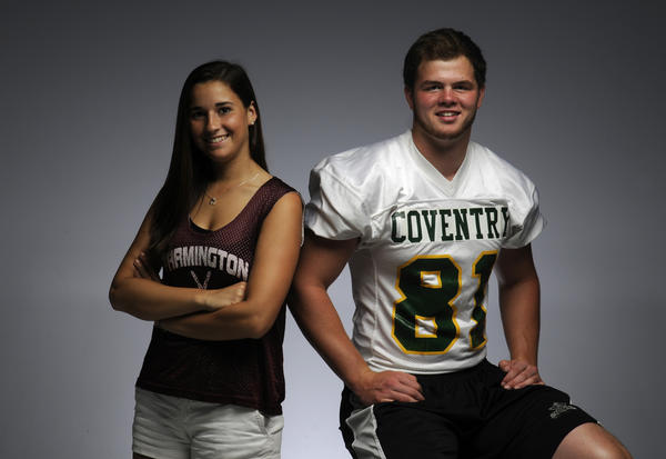 The Courant's annual athletes of the year are Jamie Bartucca of Farmington and Tommy Myers of Coventry.