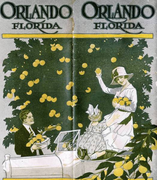 A promotional brochure for the city of Orlando, circa 1919.