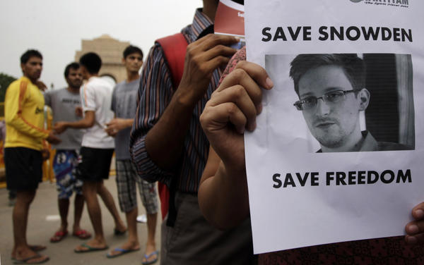 Demonstration for Edward Snowden
