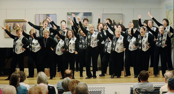 Heart of Maryland Chorus performs at the Washington County Museum of Fine Arts on Sunday.