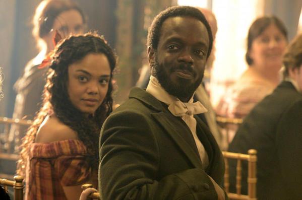 """Tessa Thompson and Ato Essandoh in BBC America's """"Copper."""""""