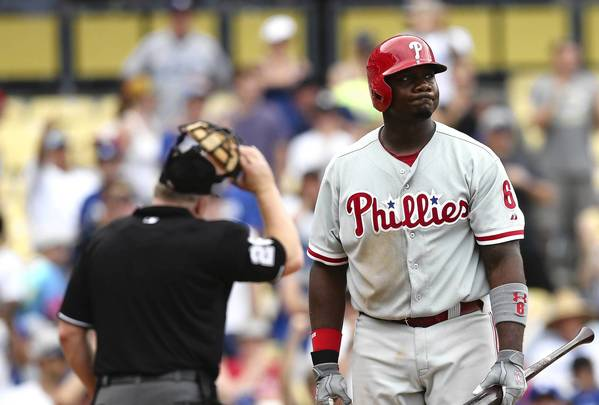 Ryan Howard has landed on the 15-day disabled list thanks to an ailing knee.