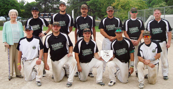 The Thunder from Battle Creek finished with a 4-1 record and topped the Lightning from Marshall, 10-5, in the championship game to win the Rex Marquardt Memorial Tournament Sunday at Bayfront Park's Ed White Field.