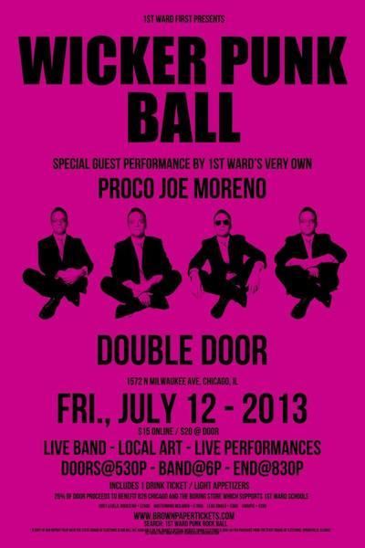 "Ald. Proco ""Joe"" Moreno (1st) will perform at the Wicker Punk Ball fundraiser in July."