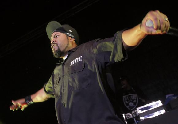 Ice Cube delivers during the Kings of the Mic tour at the Greek Theatre
