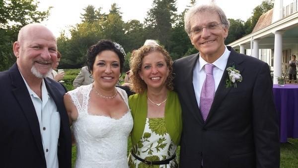 From left: Steve Schultz, Sharon Kegerreis, Debbie Wasserman Schultz, Mitchell Berger