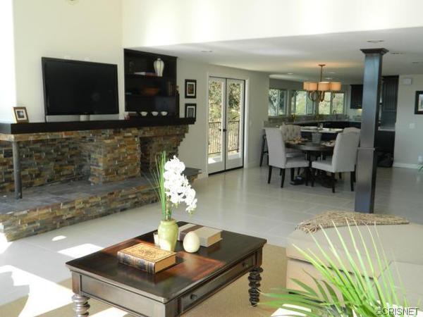 Ross Mathews' new home has an open floor plan.