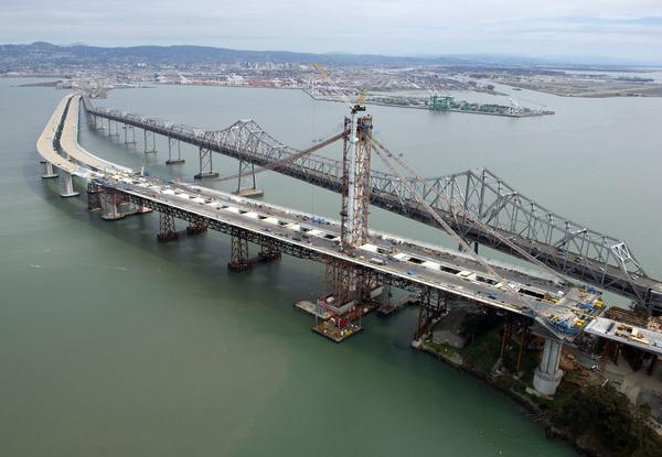 The new span of San Francisco-Oakland Bay Bridge.