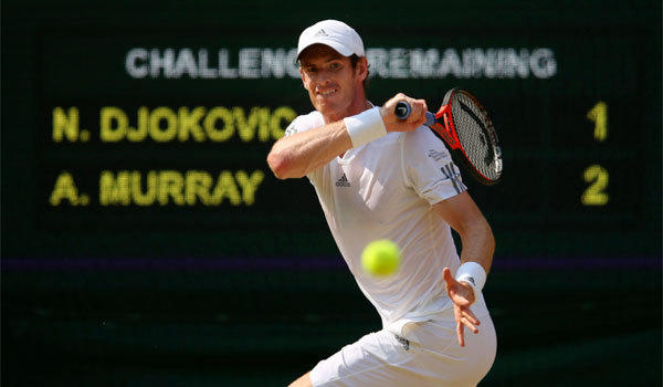 Andy Murray lost three match points but never crumbled in defeating Novak Djokovic in straight sets in the Wimbledon final on Sunday.