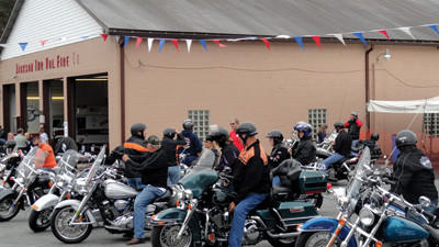 For the Jackson Heritage Festival Poker Run last year, motorcyclists rode their Harleys and other bikes to the Jackson Township Fire Hall.