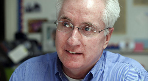 Democratic State Senate President John Morse works at the Democratic Party offices in Colorado Springs, Colo.