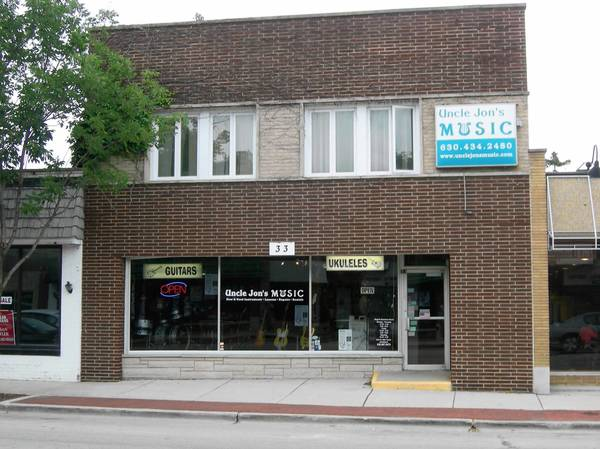 Uncle Jon's Music store in Westmont received a grant to help install a new alarm system.