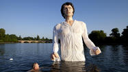 What would Jane Austen think of a 12-foot wet Darcy statue?